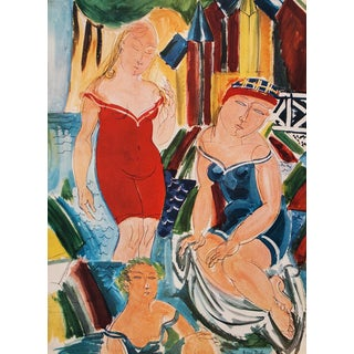 """1940s Raoul Dufy """"Women Bathing"""" First Edition Period Swiss Lithograph For Sale"""