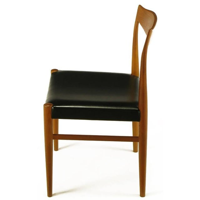 Six Teak Sculptural Back Dining Chairs, circa 1960s - Image 6 of 9