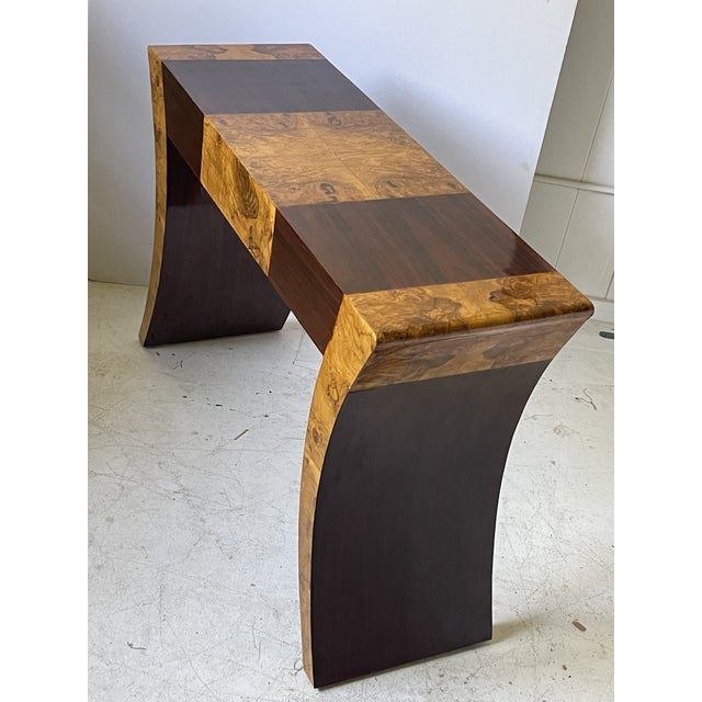 Vintage Italian Rosewood and Burlwood Console or Desk For Sale - Image 10 of 13