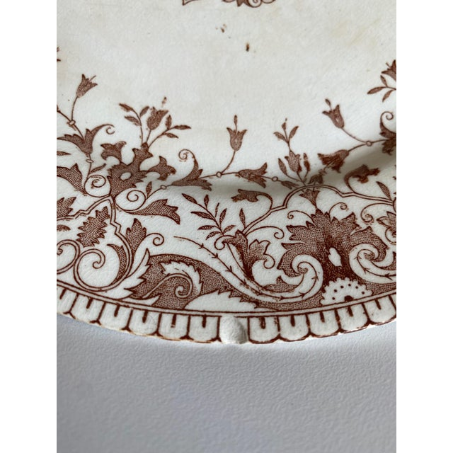 """1800s T. & R. Boote England Brown Ironstone Transferware """"Tournay"""" Plates, Set of 4 For Sale In Los Angeles - Image 6 of 10"""