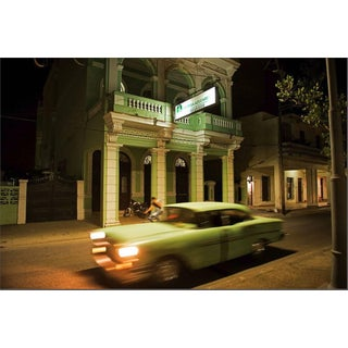 """Cuba 22"" Vintage Cars Limited Edition Color Photograph Framed by John Conn For Sale"