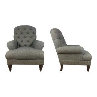 Ralph Lauren Highback Club Chairs - a Pair For Sale
