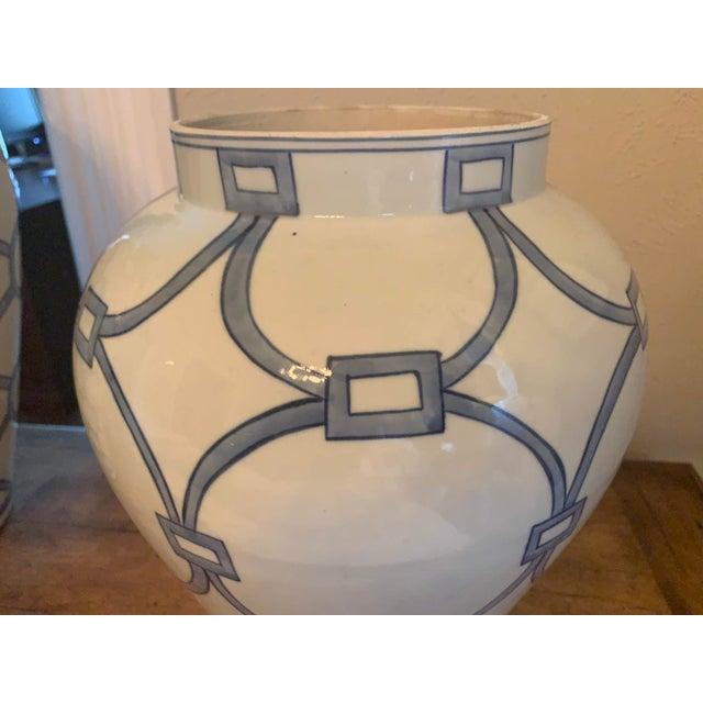 Blue & White Porcelain Lover Locks Temple Jar For Sale In Denver - Image 6 of 13