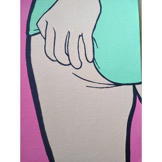 Acrylic Lictenstien Inspired Original Pop Art Acrylic Painting For Sale - Image 7 of 11