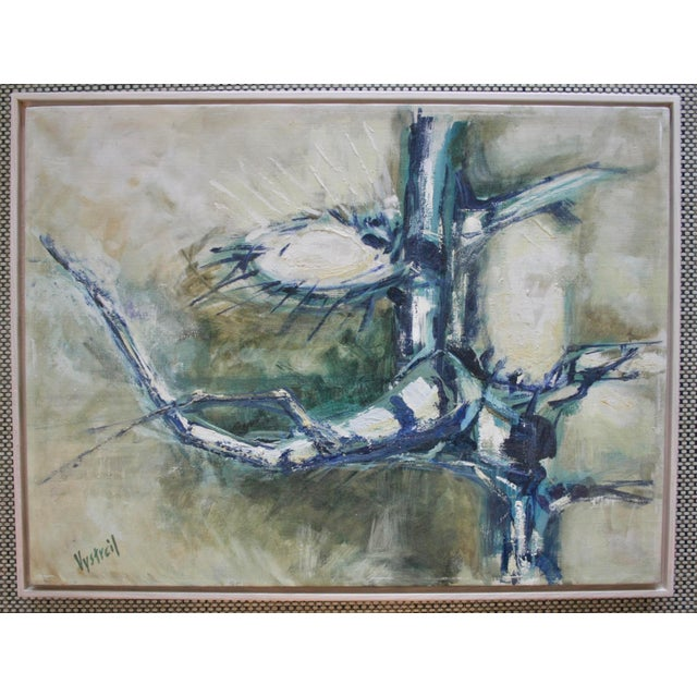 1960s Vintage Abstract Oil on Canvas Painting - Image 2 of 7