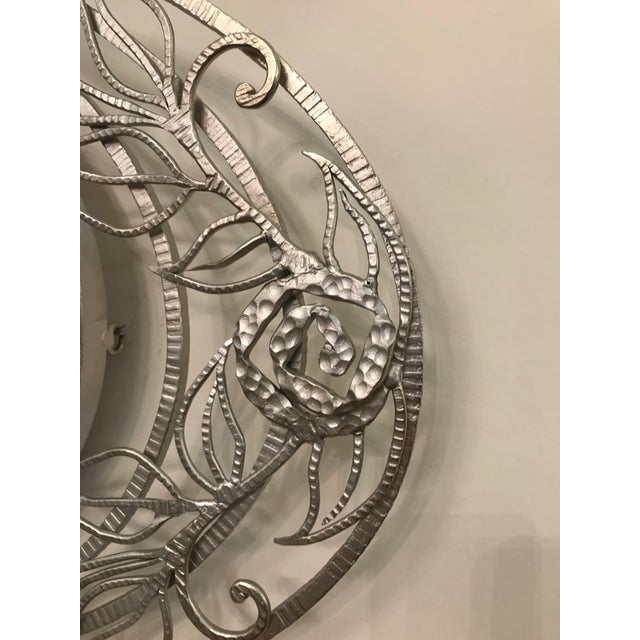 Early 20th Century French Art Deco Geometric and Floral Wall Mirror For Sale - Image 5 of 10
