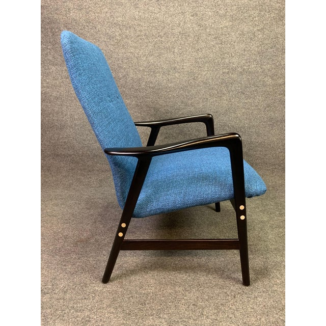 Mid Century Vintage Alf Svensson for Dux Scandinavian Lounge Chair For Sale In San Diego - Image 6 of 11