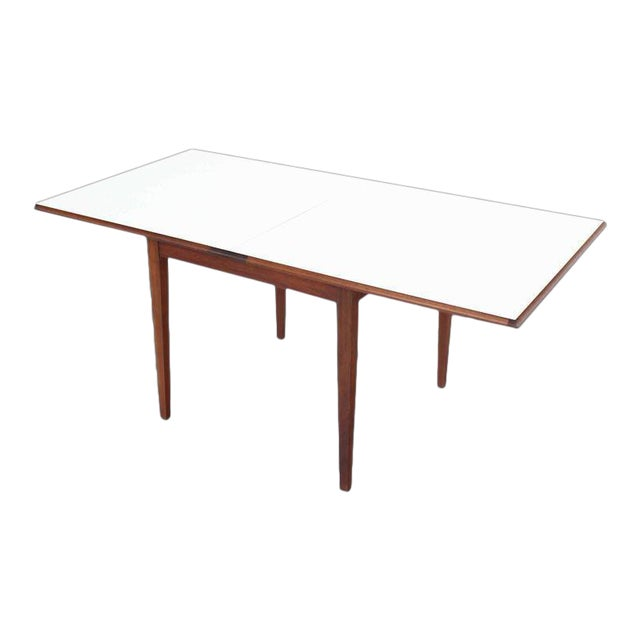 Mid Century Modern Square Flip Top Game Dining Table Chairish