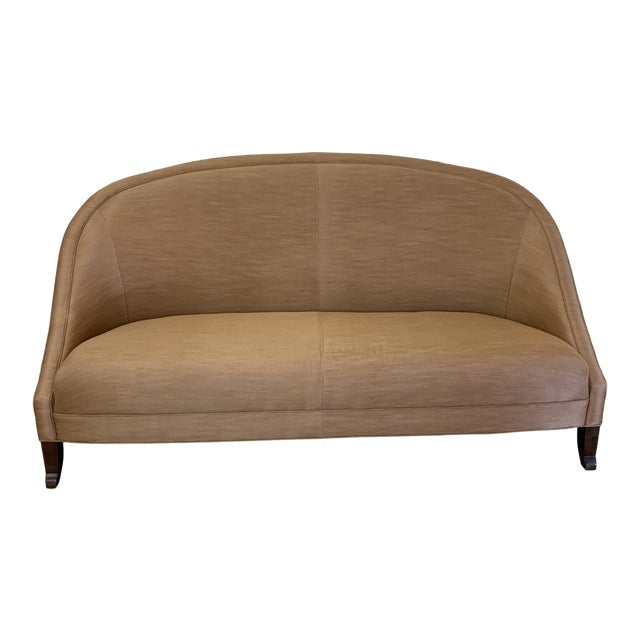 Hollywood Regency Curved Sofa For Sale
