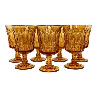 1950s Amber Tea Goblets - Set of 8 For Sale