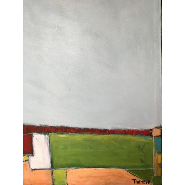 """""""Primary Landscape"""" - Contemporary Abstract Landscape Painting For Sale - Image 4 of 6"""