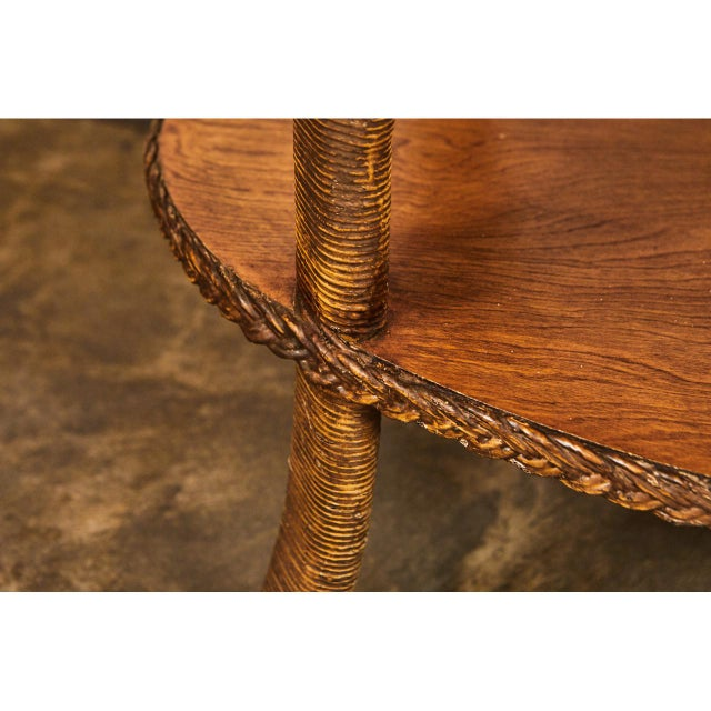 1930s 1930's Wicker Table For Sale - Image 5 of 8