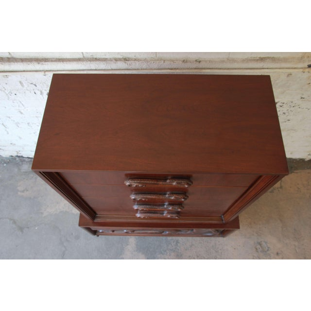 Mid-Century Sculptural Highboy Dresser in the Style of Philip Lloyd Powell For Sale - Image 11 of 11