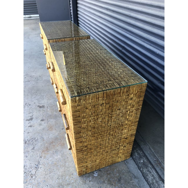 Vintage Woven Wrapped Rattan Chests- a Pair For Sale In Tampa - Image 6 of 13