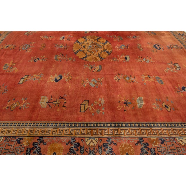 "Apadana-Antique Indo Chinese Rug, 12'0"" X 13'6"" For Sale In New York - Image 6 of 11"