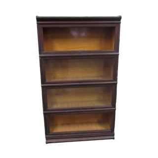 Four Shelf Barrister Bookcase For Sale