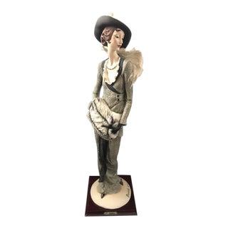 "Vintage 20th Century Giuseppe Armani ""Sera D'inverno"" Limited Edition Porcelain Figurine For Sale"