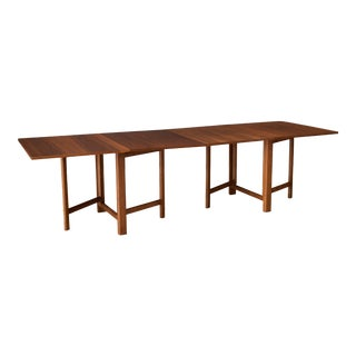 Mid-Century Modern Walnut Extending Drop Leaf Dining Table For Sale