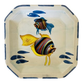 Vintage Italian Decorative Fish Plate For Sale