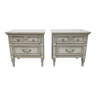 Dixie 1357 French Painted PNightstands Side End Tables - a Pair For Sale