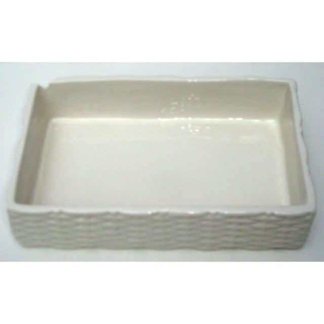 Italian Porcelain Ceramic Wicker Frog Box - Image 10 of 11