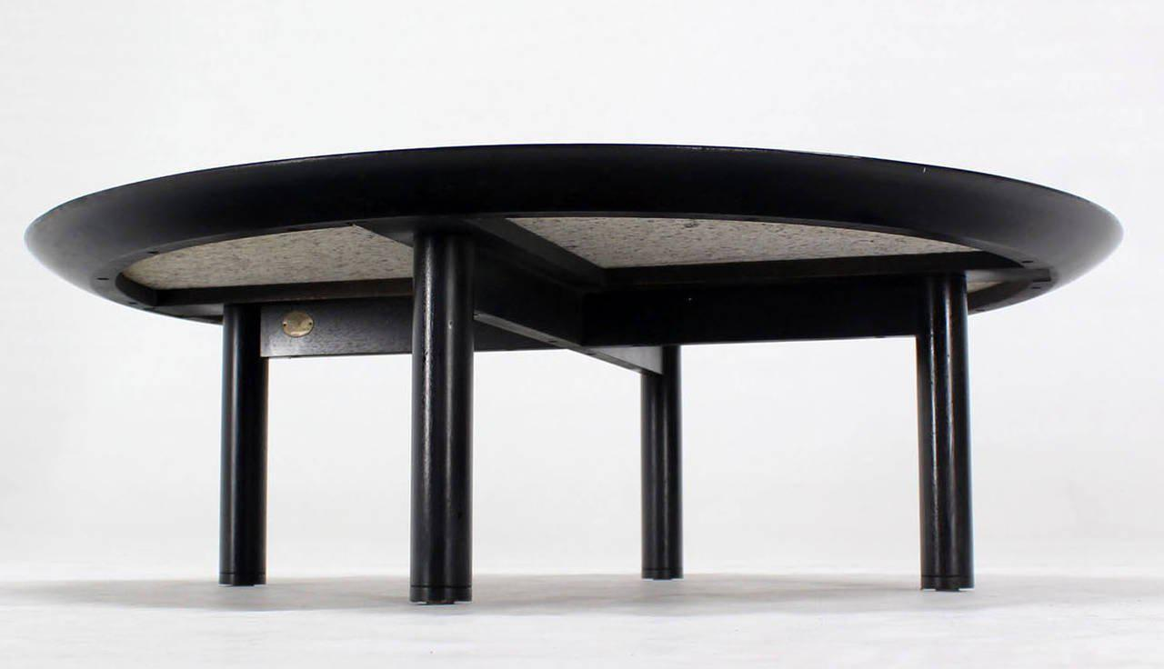 Incredible 48 Inches Round Mid Century Modern Coffee Table By Baker