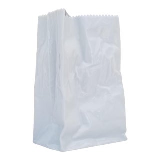 "Tapio Wirkkala Style "" Paper Bag "" Porcelain Vase For Sale"