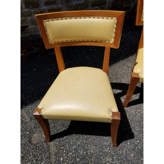 Pair of Yellow Leather Side Chairs by Ironies For Sale In San Antonio - Image 6 of 9