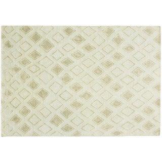 Stark Studio Rugs Contemporary New Oriental Tibetan Linen Rug - 9′ × 12′ For Sale