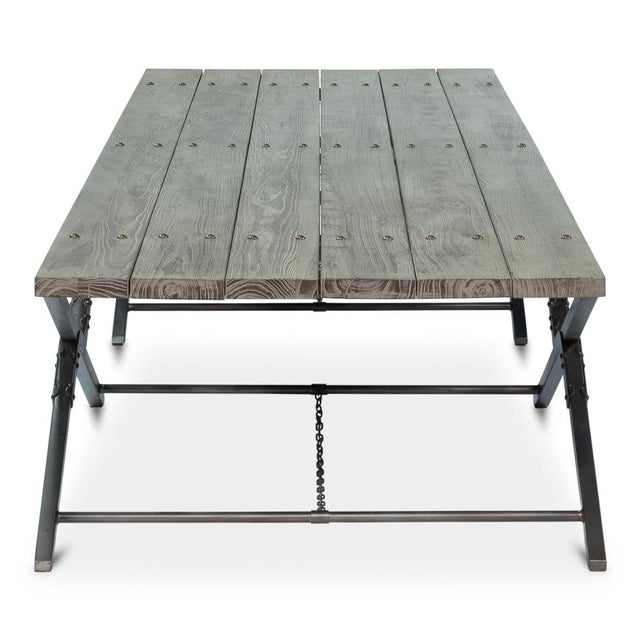 Sarreid Ltd Campaign Low Folding Table - Image 5 of 5