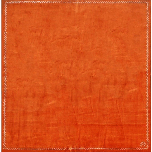 Orange Boccara Exclusive Limited Edition Artistic Wool Rug, Hermès For Sale - Image 8 of 8