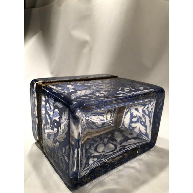 19th Century Antique Bohemian Glass Sugar Casket/ Jewelry/Vanity/Trinket Box For Sale - Image 5 of 13