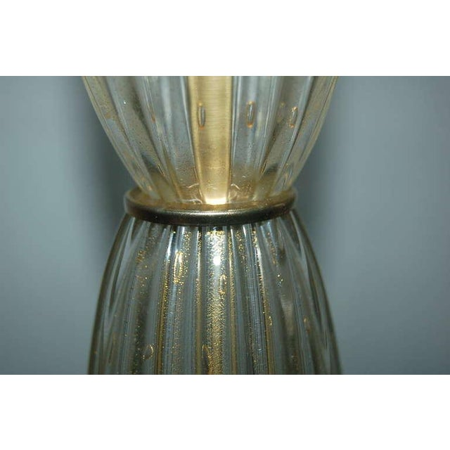 Vintage Murano Glass Table Lamps Champagne For Sale - Image 9 of 10