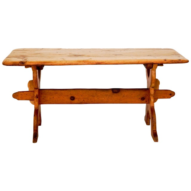 Swedish Rural Pinewood Table, 19th Century For Sale