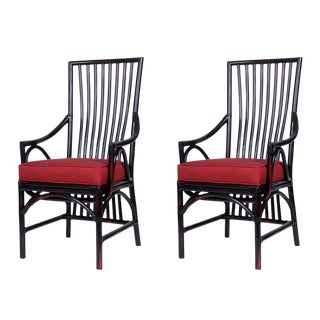 David Francis Chinoiserie Dining Armchairs -Set of 4 For Sale
