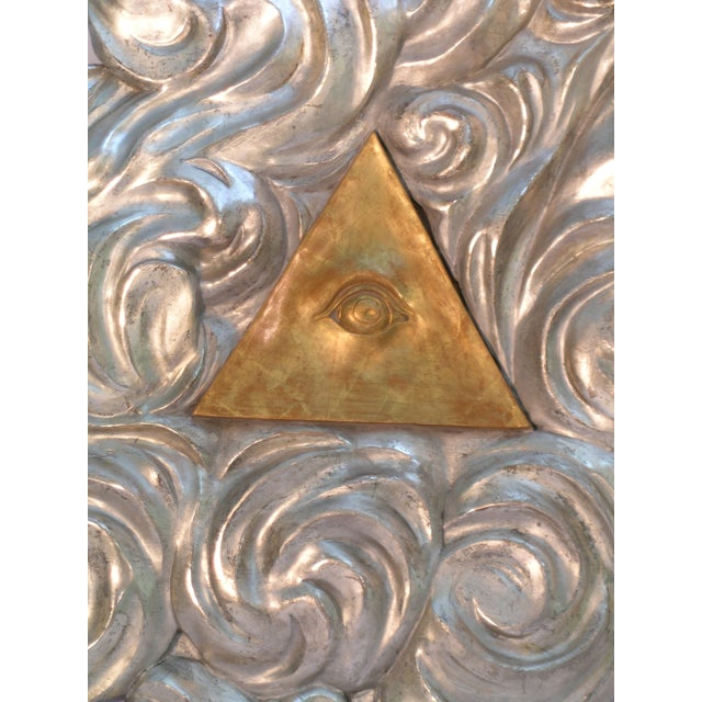 Mid 18th Century 18th Century Antique Masonic Eye of Good Sculptural Wall Piece For Sale - Image 5 of 6