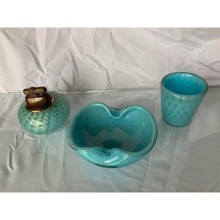 1960s Vintage Alfredo Barbini Murano Glass - Set of 3 Preview