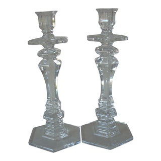 1970s Waterford Imperial Crystal Candlesticks - a Pair For Sale