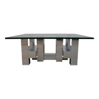 Large Architectural Coffee Table by Paul Mayen For Sale