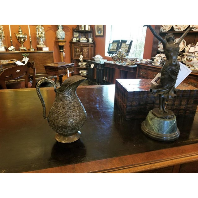 Anglo-Indian 18th C. Indo-Persian Bronze Pitcher For Sale - Image 3 of 13