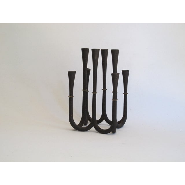 Danish Modern Metal Candelabra - Image 6 of 8