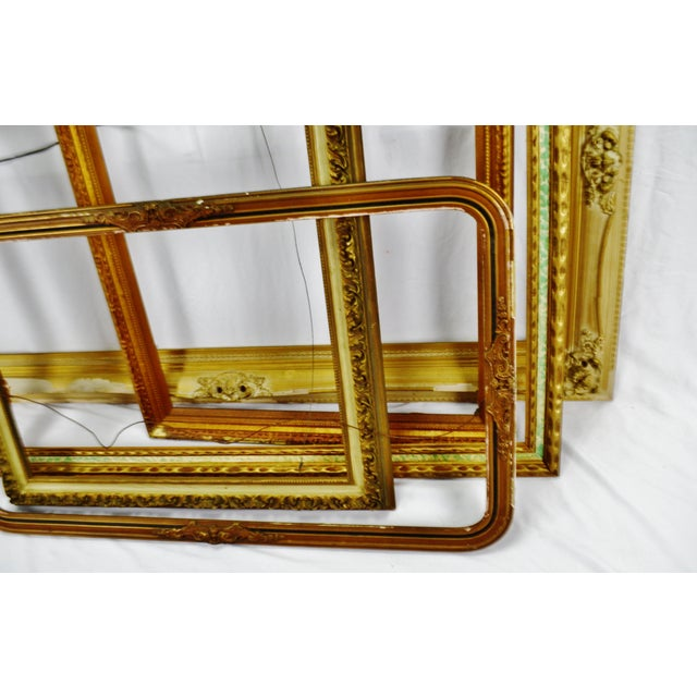Vintage Large Wood Picture Frames - Group of 5 For Sale - Image 11 of 13
