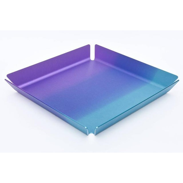 Limited Edition Art Basel Anodized Aluminum Serving/Bar Tray For Sale - Image 5 of 9