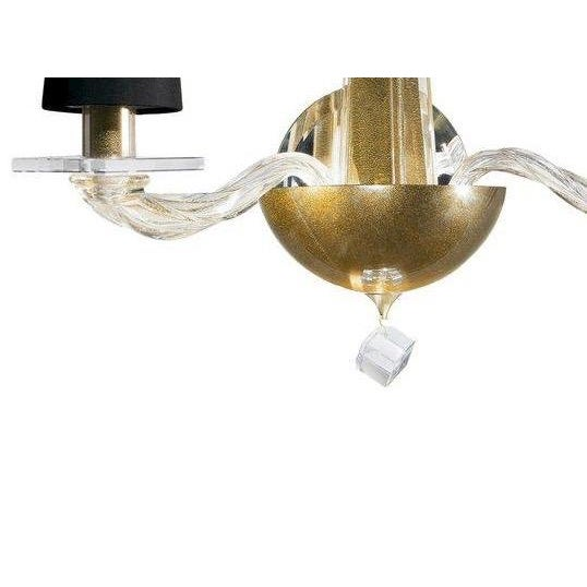 Angelo Donghia Donghia -Stellare 2-Arm Gold Dust Murano Sconce For Sale - Image 4 of 11