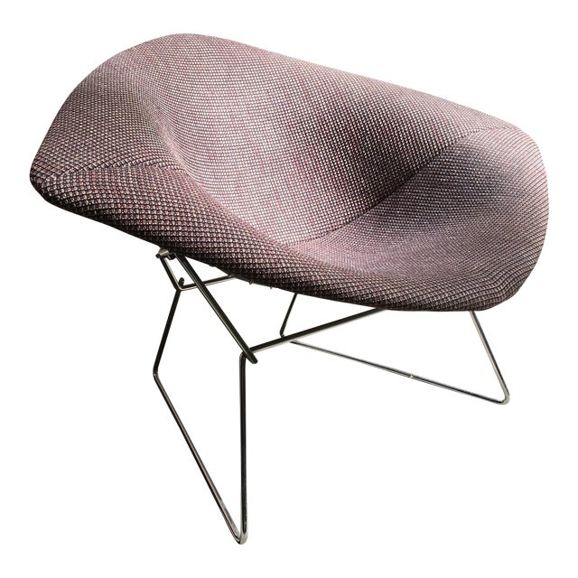 1970s Mid Century Modern Harry Bertoia for Knoll Diamond Lounge Chair - Image 1 of 8