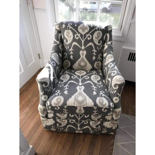 Lillian August Swivel Glider Chair For Sale In New York - Image 6 of 6