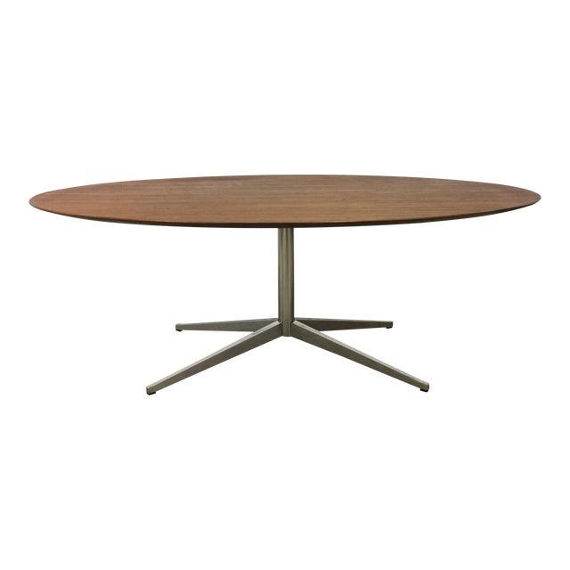 Florence Knoll Pedestal Table Chairish - Knoll pedestal table