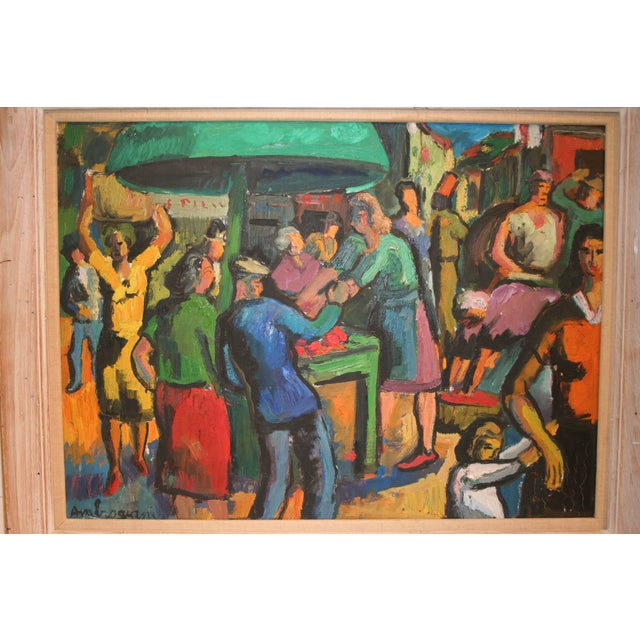 French Expressionist Oil by Pierre Ambrogiani - Image 7 of 7