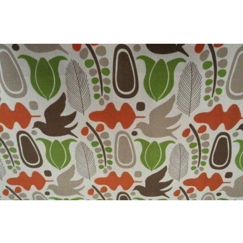 Beacon Hill Tangerine Finmark Fabric - 3.625 Yards For Sale - Image 4 of 4