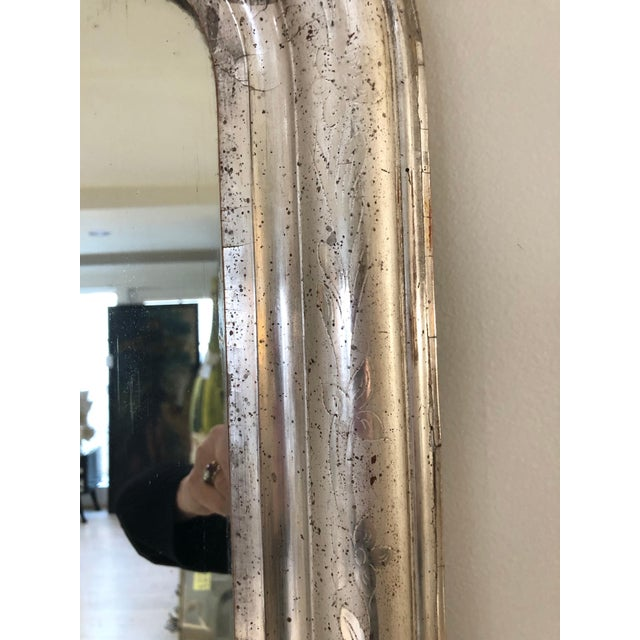 Silver Leaf Mirror With Etched Vine Design, Original Mirror For Sale - Image 4 of 13